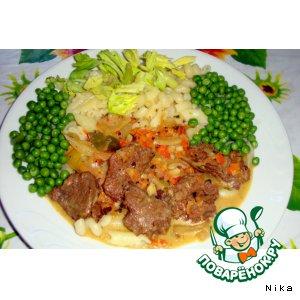 Рецепт: Мясо в соусе