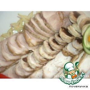 Рецепт: Запеченное куриное филе-буженина для Эллисы