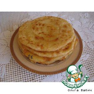 Рецепт: Лепешки с сыром за 5 минут