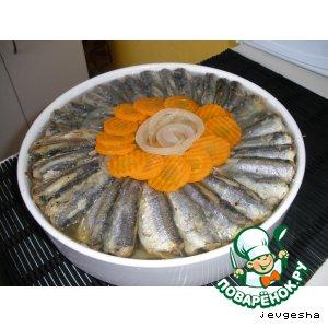 Рецепт: Салака в белом маринаде