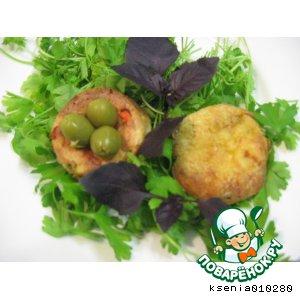 Рецепт: Сырно - овощные маффины для Почемучки