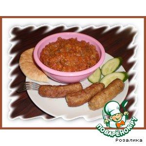 Рецепт Баклажаны по-восточному с кебабами