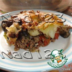 Рецепт: Овощи с фаршем под сыром