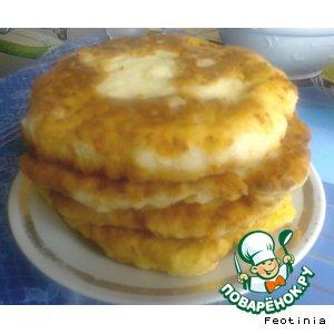 Рецепт: Сырные лепешки