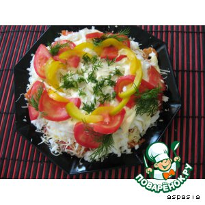 """Рецепт: Салат """"Рыбный остров"""""""