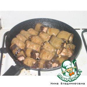 Рецепт Запеченые рулетики из баклажан с мясом