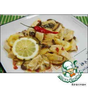 Рецепт: Курица в остром лимонном соусе