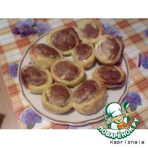 Рецепт: Картофель, фаршированный по-тюменски