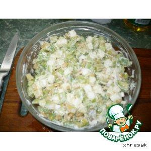 """Рецепт: Салат """"Софиевка"""" с авокадо"""