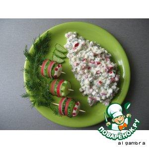 """Рецепт: Салат из редиски """"Вкус детства"""""""