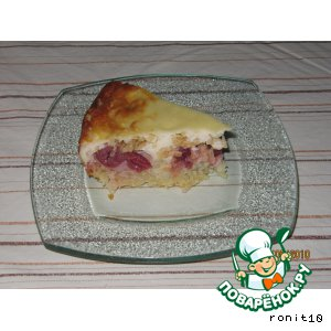 Рецепт Вишнeво-яблочный пирог