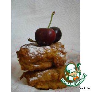Рецепт: Яблочные пончики с черешней