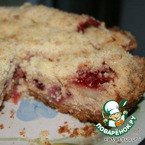 Рецепт: Творожный пирог Крошка-неженка с клубникой