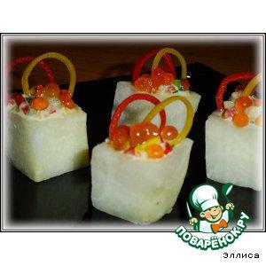 Рецепт: Порционный салат Льдинки