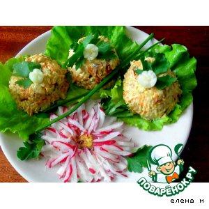 Рецепт: Рыбная закуска по мотивам салата Минутка