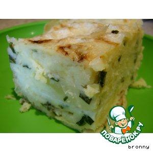 Рецепт: Слоеный пирог из лаваша с картошкой