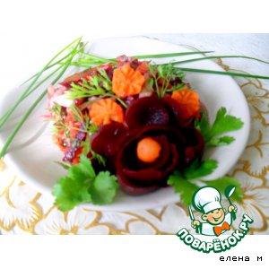 Пряный мясной салат