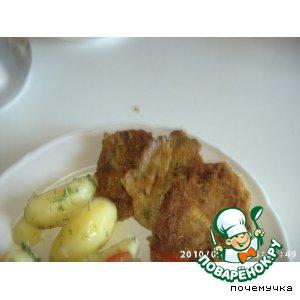 Рецепт: Пампушки-котлетки из кабачка с чесночной заливкой