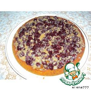 Рецепт: Десертный пирог Сочная вишня