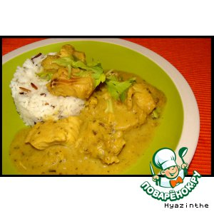 Рецепт: Рыба-карри в ревеневом соусе