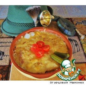 Рецепт: Простой валейзанский сырный крут с ветчиной