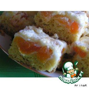 Рецепт: Пирожные с курагой