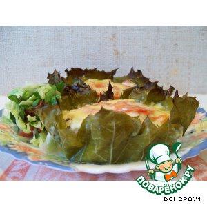 Рецепт: Курино-овощные  корзинки