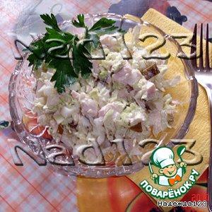 Рецепт: Салат с куриной грудкой Нежнее нежного