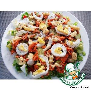 Рецепт: Лососевый салат - Zalmsalade