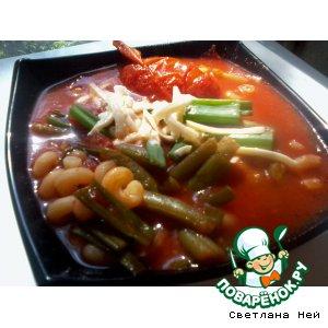 Рецепт: Итальянский густой фасолевый суп