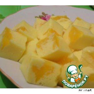 """Рецепт: Молочно-цитрусовый десерт """"Апельсиновые брызги"""""""
