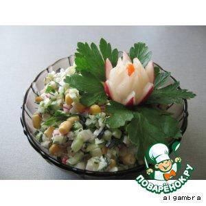 Рецепт: Салат из редиса и пастернака
