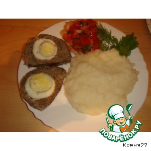 Рецепт: Мясной рулет с мятой и яйцами