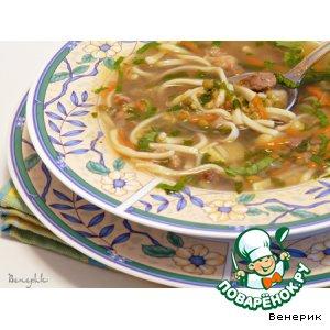 Рецепт: Суп с машем и лапшой
