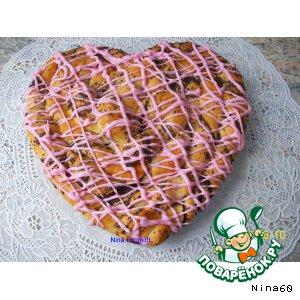 """Рецепт: """"Сердечко"""" пирог с маком"""