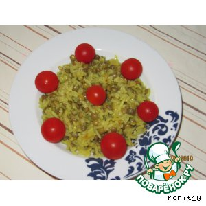 Рецепт: Рис с чечевицей Маджадра