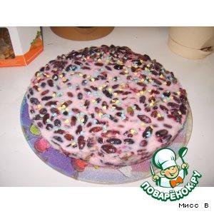 Рецепт: Йогуртовый торт с жимолостью