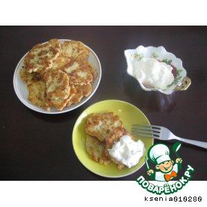 Рецепт: Капустные оладушки