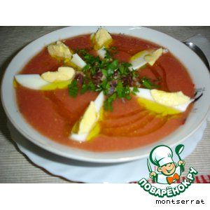 Рецепт: Холодный томатный суп Сальморехо