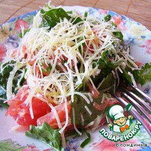 Рецепт: Салат с рукколой и сeмгой