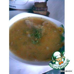 Рецепт Суп гороховый с гренками из пароварки