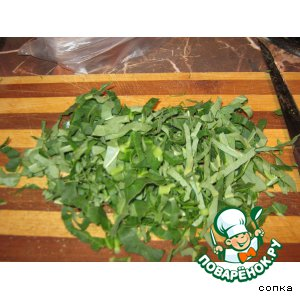 Рецепт: Щавель, ревень и шпинат на зиму