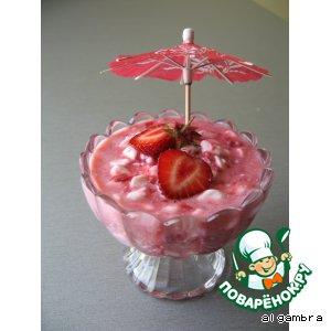Рецепт: Розовый десерт