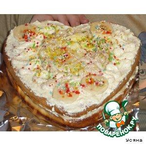 """Рецепт Бисквитно-кремовый тортик """"Ouhibbouk"""""""