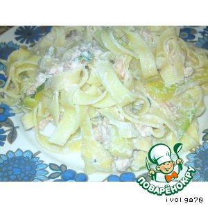 Рецепт: Макароны с копченым лососем