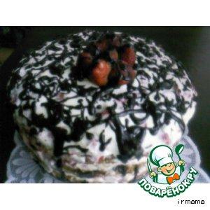 """Рецепт: Клубничный торт """"Для мужа"""""""