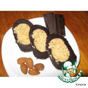 """Рецепт: Десерт """"Шоколадно-ореховый рулет"""""""