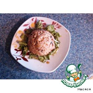 Рецепт: Рис с курицей и грибами