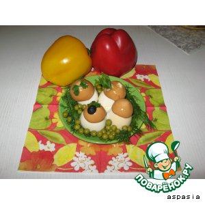 Рецепт: Закуска Грибочки на полянке