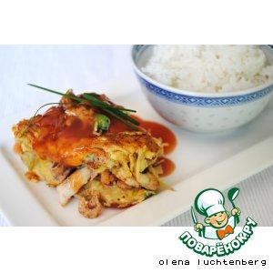 Рецепт: Омлет под кисло-сладким соусом Фу йонг
